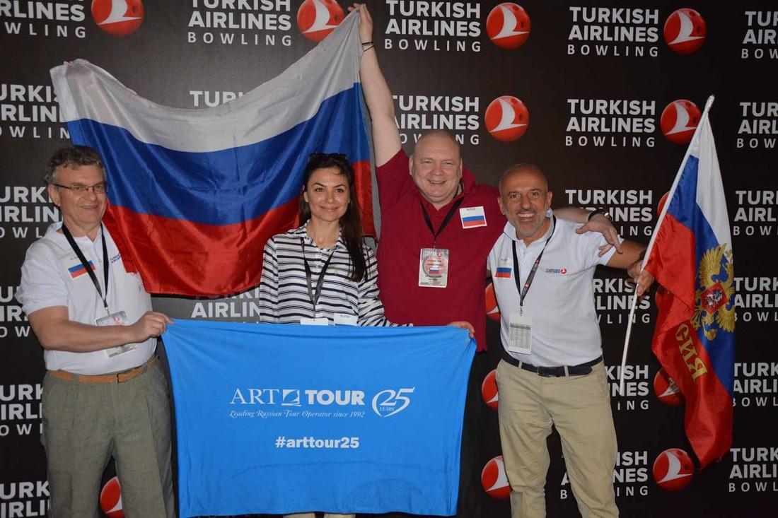«Арт-Тур» взял серебро на турнире по боулингу Turkish Airlines