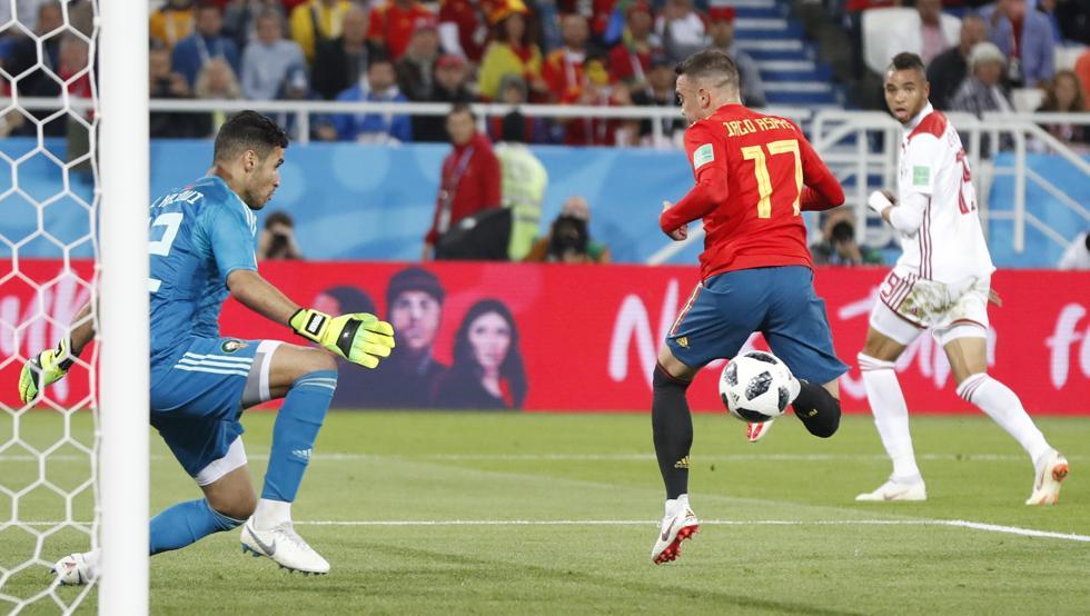 В 1/8 финала чемпионата мира по футболу Испания сыграет с Россией