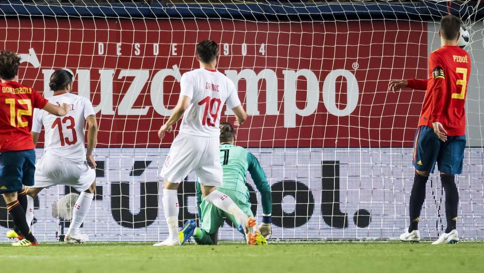 В рамках подготовки к ЧМ-2018 сборная Испании не смогла обыграть швейцарцев