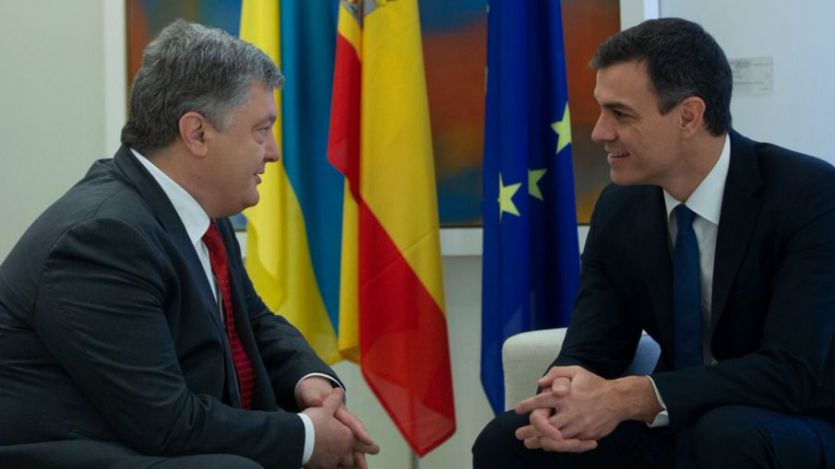 Петр Порошенко встретился с новым премьер-министром Испании Педро Санчесом