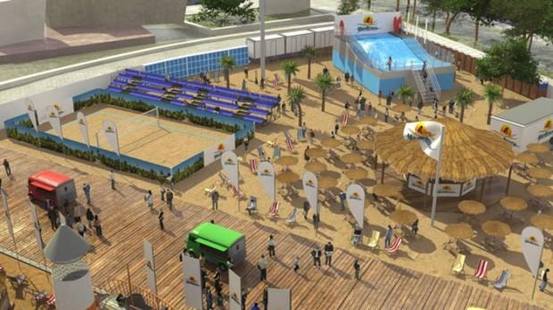 В Мадриде появится новая зона отдыха с чирингито, волейбольной площадкой и бассейном с волнами