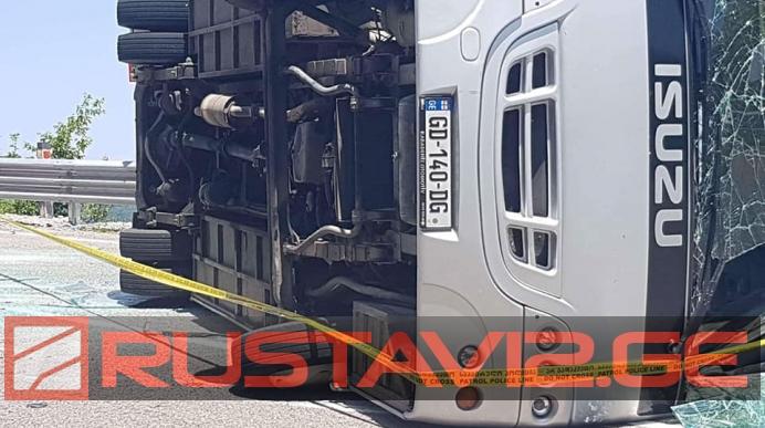 Автобус с белорусскими туристами перевернулся в Грузии, 25 человек пострадали