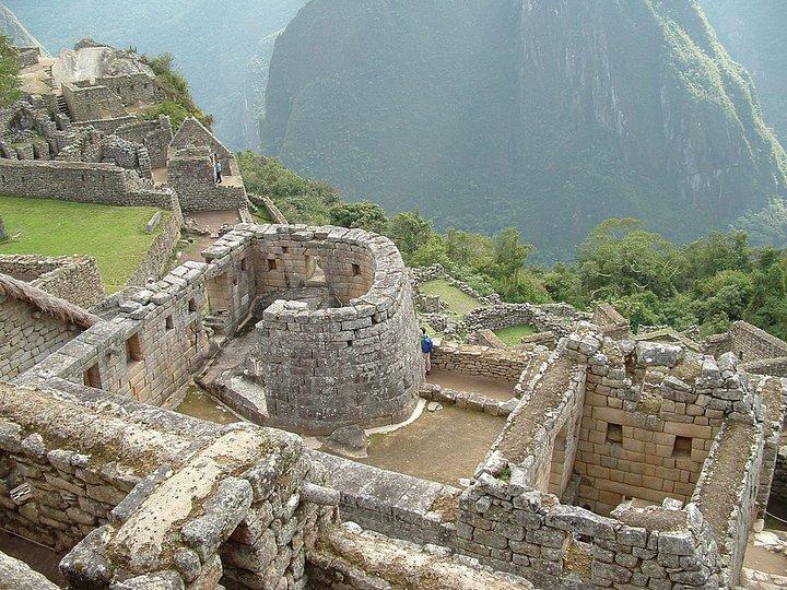 Храм солнца в Мачу-Пикчу. Фото: Wikipedia Commons