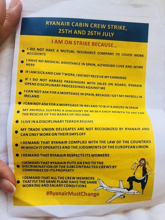 В Испании из-за забастовки Ryanair застряли минчане, их приютило белорусское почетное консульство