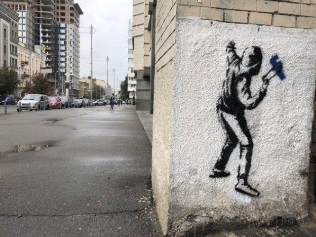 Рисунки Бэнкси в Киеве? Три сомнения