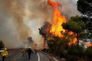 В Португалии третий день бушуют пожары