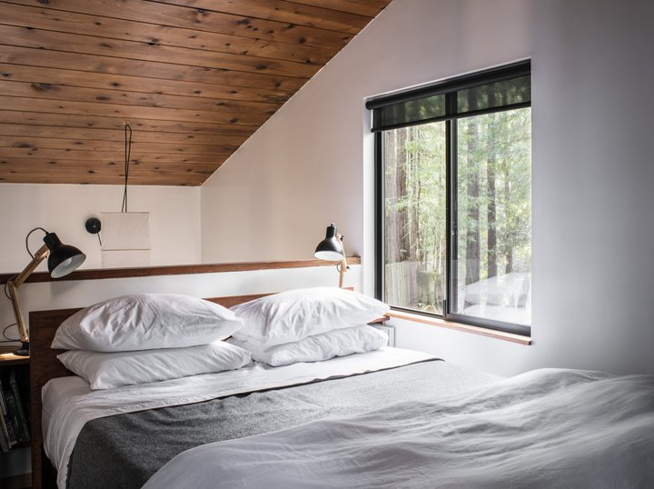 Дача в лесу, которая зарабатывает: дизайнеры из США реконструировали старую хижину для туристов