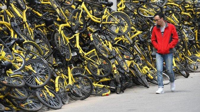 Столицы запрещают желтые велосипеды