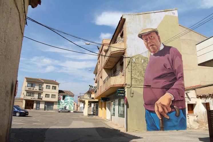 Арагонскую деревушку преобразили рисунки на стенах