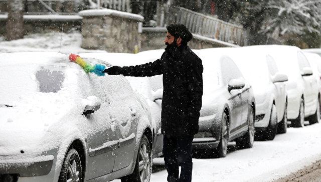 На горнолыжном курорте Турции выпал снег