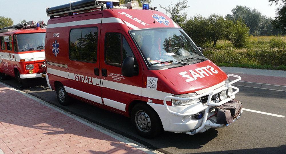 В Польше загорелся автобус с российскими туристами
