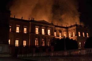 В Рио-де-Жанейро сгорел Национальный музей