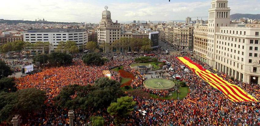 Каталонцы готовятся к акции единства