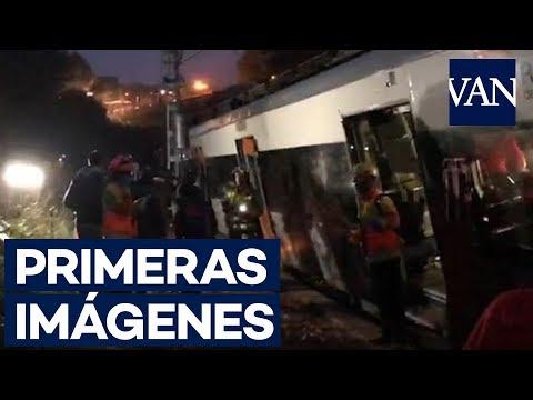 Пассажирский поезд сошел с рельсов в пригороде Каталонии