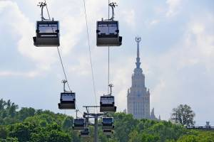 В Москве открылась первая канатная дорога