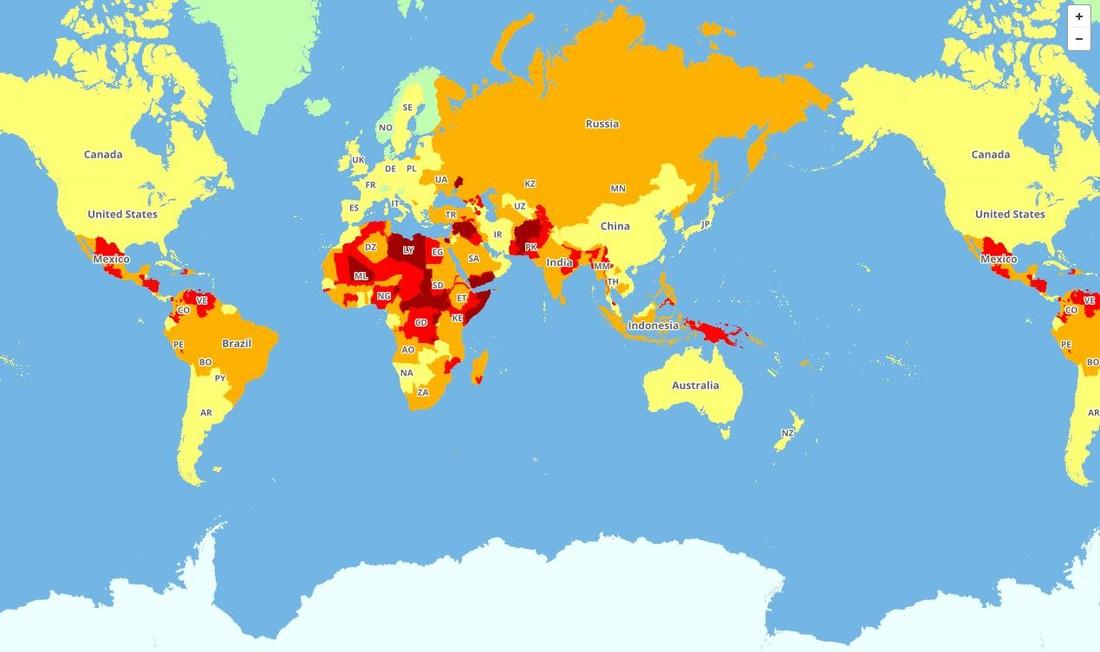 Эксперты назвали самые опасные и безопасные для туристов страны