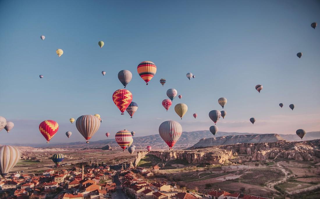Каппадокия: за 2018 год на воздушных шарах прокатилось 0.5 млн туристов