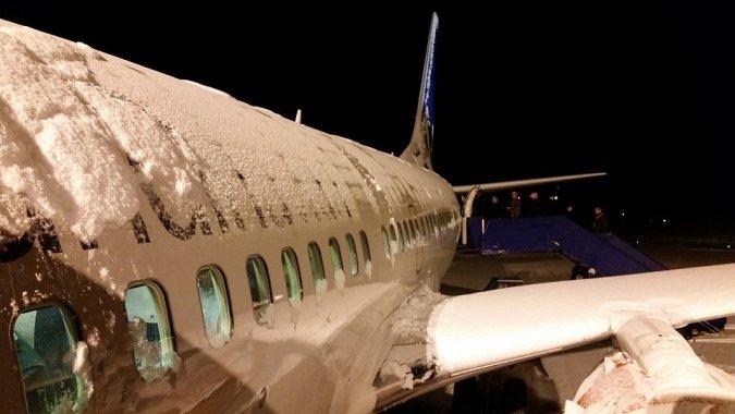 Мюнхенский аэропорт замело, массовая отмена рейсов