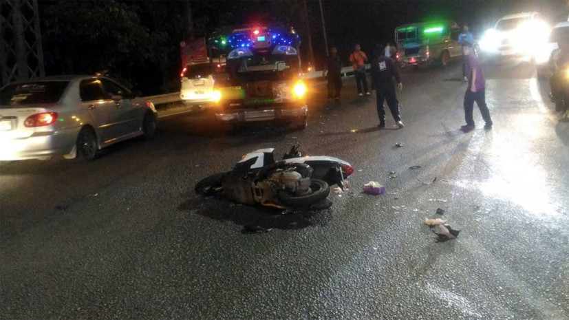 Два российских туриста разбились на мотоцикле в Таиланде