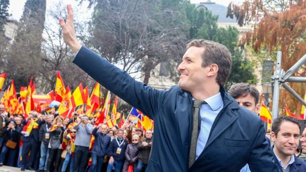 PP, Ciudadanos и Vox провели в Мадриде манифестацию против действующего правительства