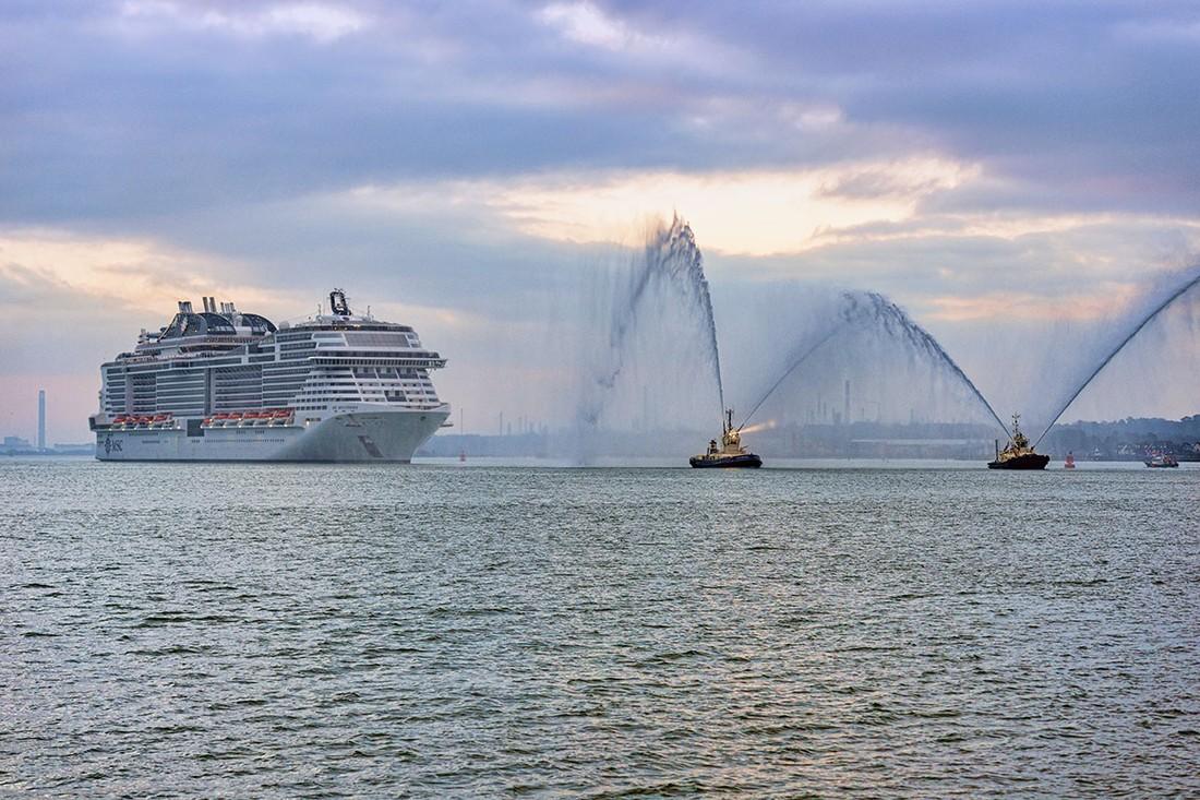 MSC спустила на воду лайнер MSC Bellissima