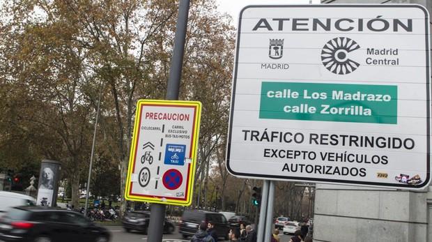 С 15 марта вводятся штрафы за въезд в центр Мадрида
