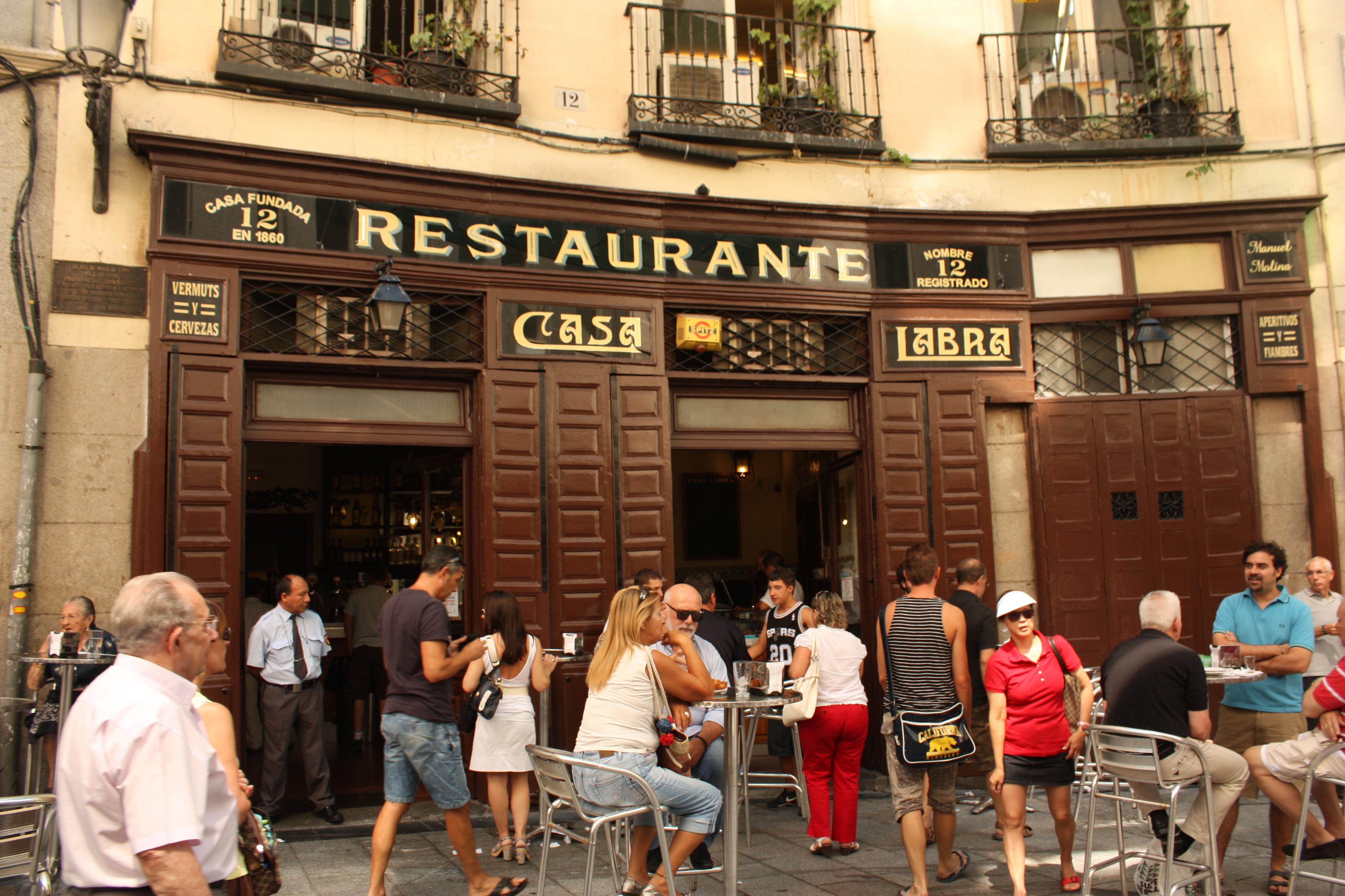 Улицы в Мадриде с наибольшим числом баров и ресторанов