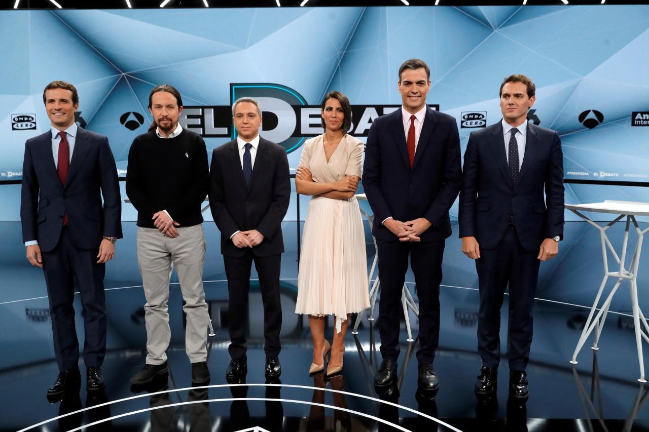 Санчес потерял полмиллиона голосов после дебатов с Риверой и Иглесиасом