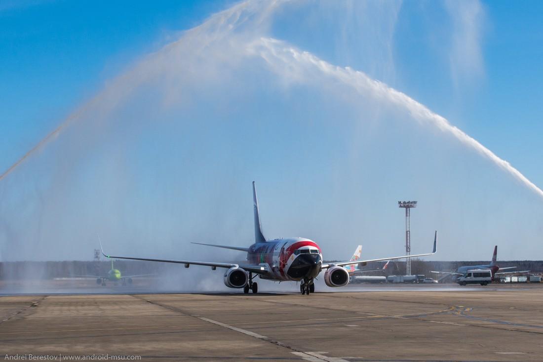 В Домодедово отметили годовщину возобновления полетов в Египет