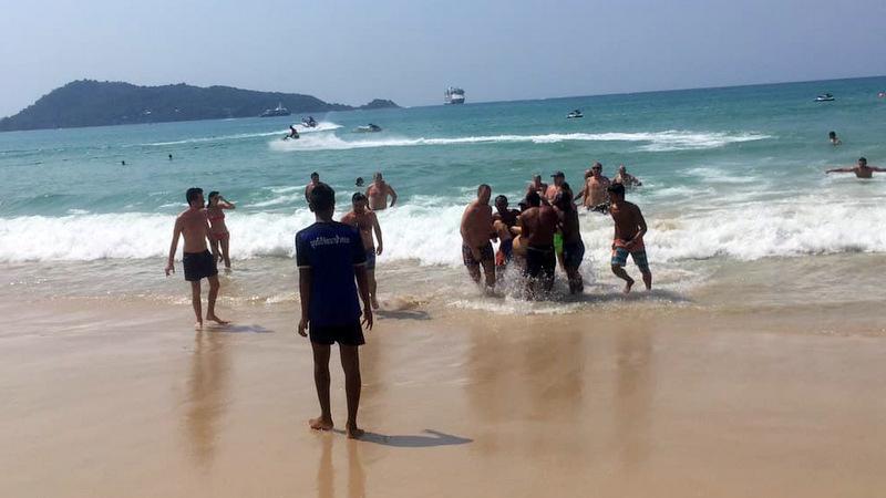 Российский турист спасен на пляже Пхукета