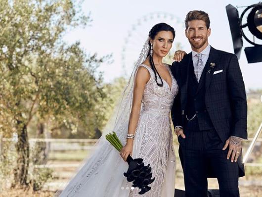 Серхио Рамос и Пилар Рубио опубликовали несколько фотографий со своей свадьбы