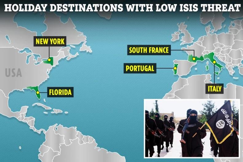 Туристам назвали курорты с низким риском террористической атаки