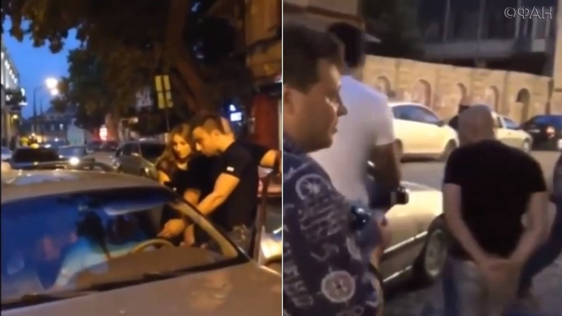 Видео: грузинские нацики напали на российских туристов