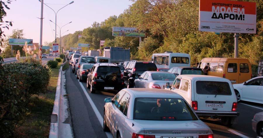 Отъезд туристов из Сочи спровоцировал многокилометровые пробки