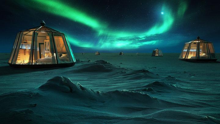 На Северном полюсе появится первый отель. Это будут стеклянные капсулы с подогревом