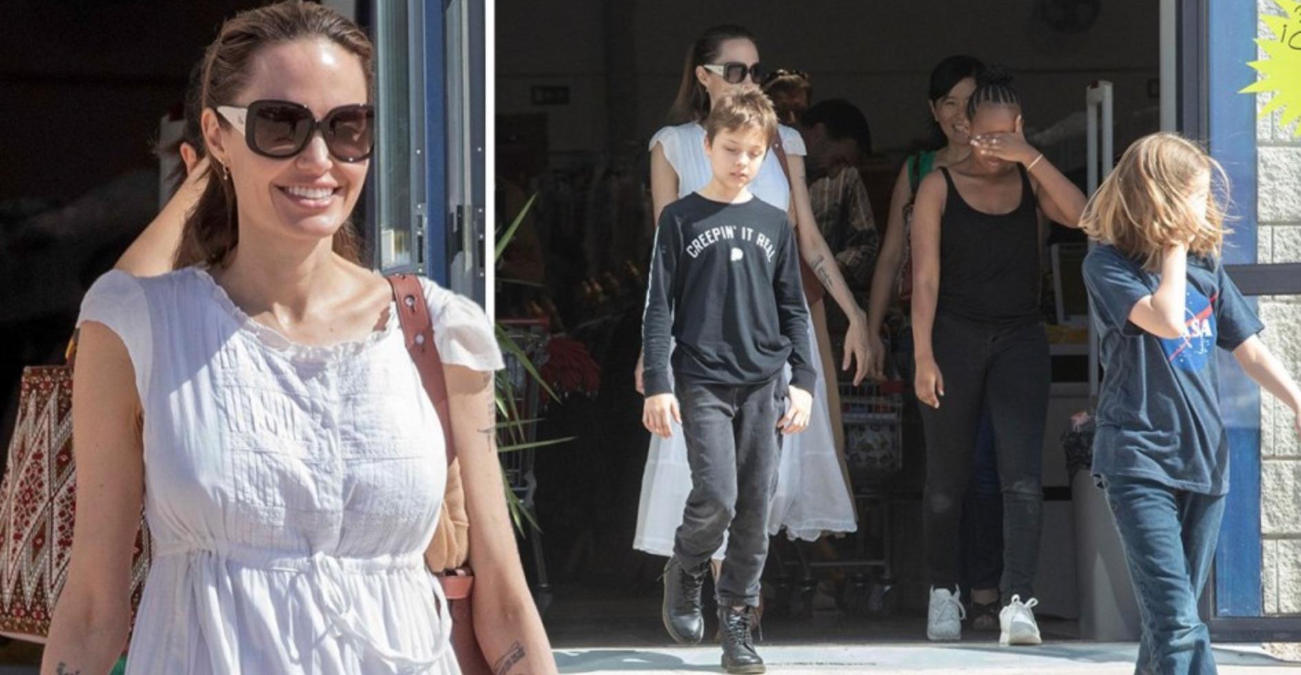 Анджелина Джоли приехала на Канарские острова для съемок в супергеройском фильме
