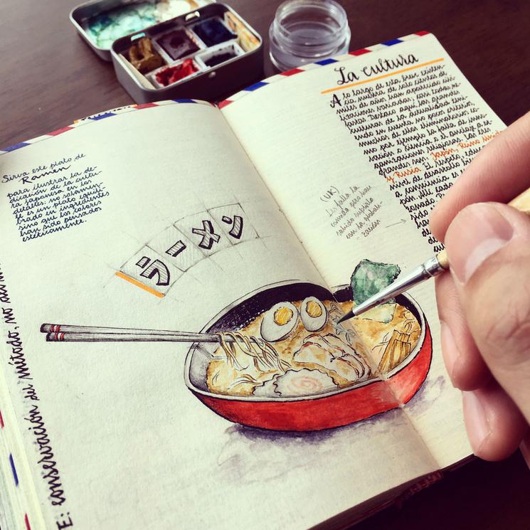 Записные книжки испанского иллюстратора вдохновляют на путешествия