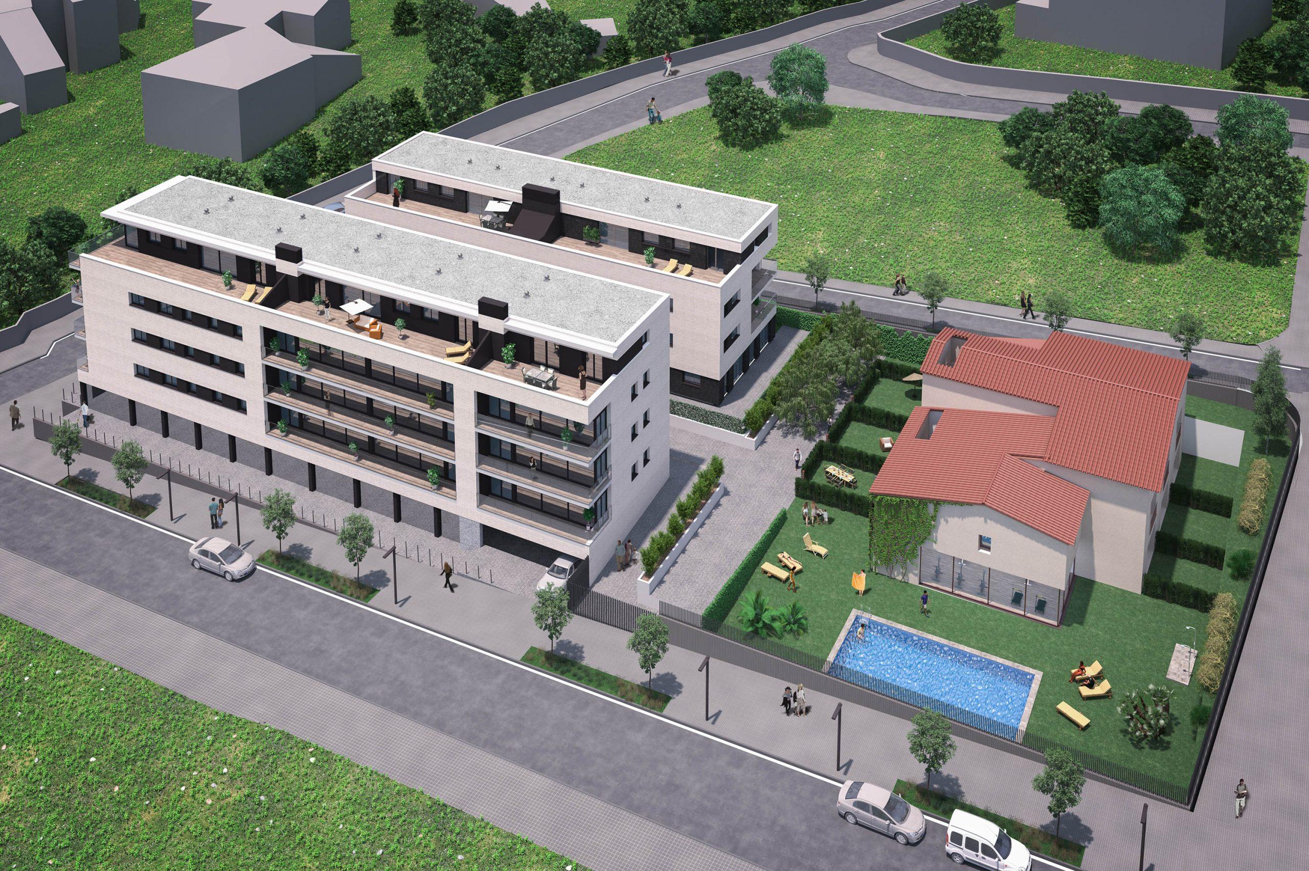 Уникальный жилой комплекс в Сан-Андреу-де-Льяванерес