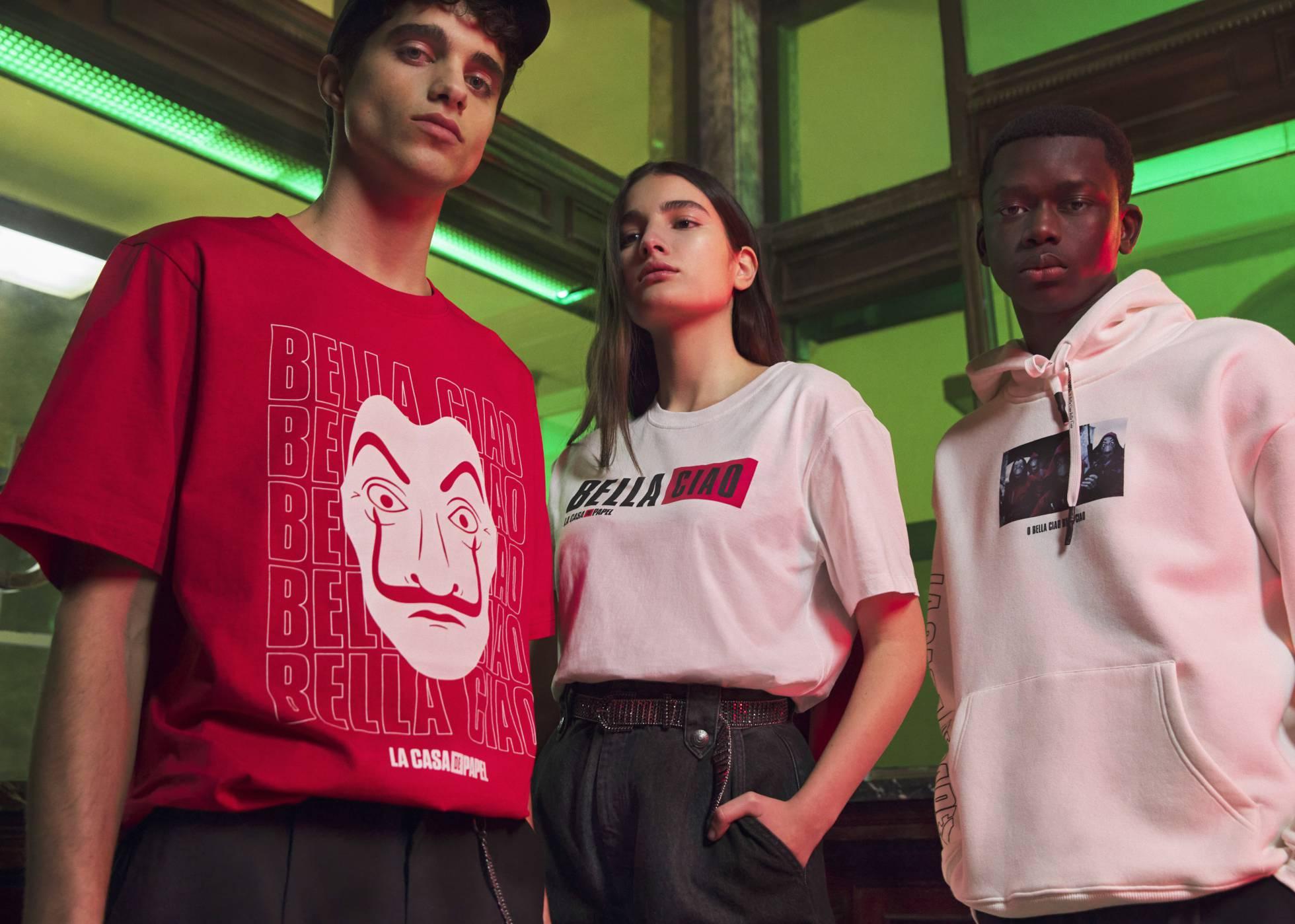 Pull&Bear выпускает коллекцию одежды для фанатов сериала «Бумажный дом»