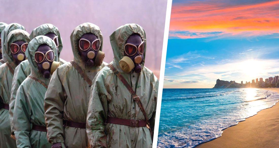 Обезумившие из-за коронавируса чиновники залили пляжи Испании хлоркой и убили все вокруг