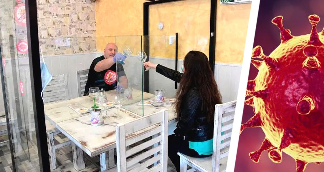 Рестораны в Испании огораживают столики пластиковыми коробами для безопасности туристов