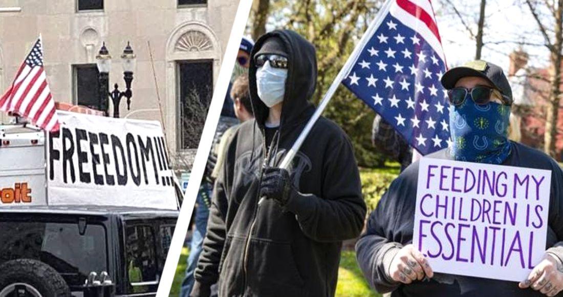 Люди устали от коронавирусной истерии: в США начались массовые протесты против карантина