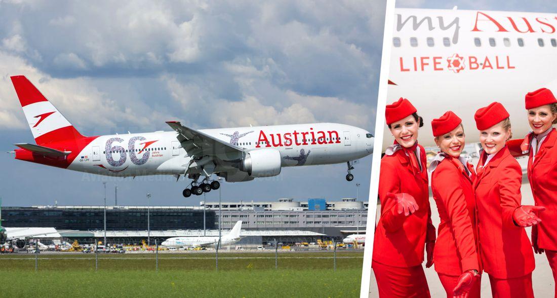 Австрийские Авиалинии возобновляют полёты в 37 городов, включая Париж, Лондон, Тель-Авив и Киев
