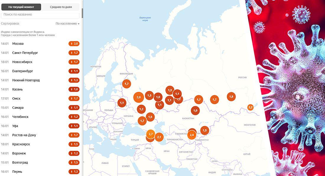 Коронавирус в России на 21.05: выздоровело рекордное число заболевших, а индекс «самоизоляции» упал до рекордных 0.9