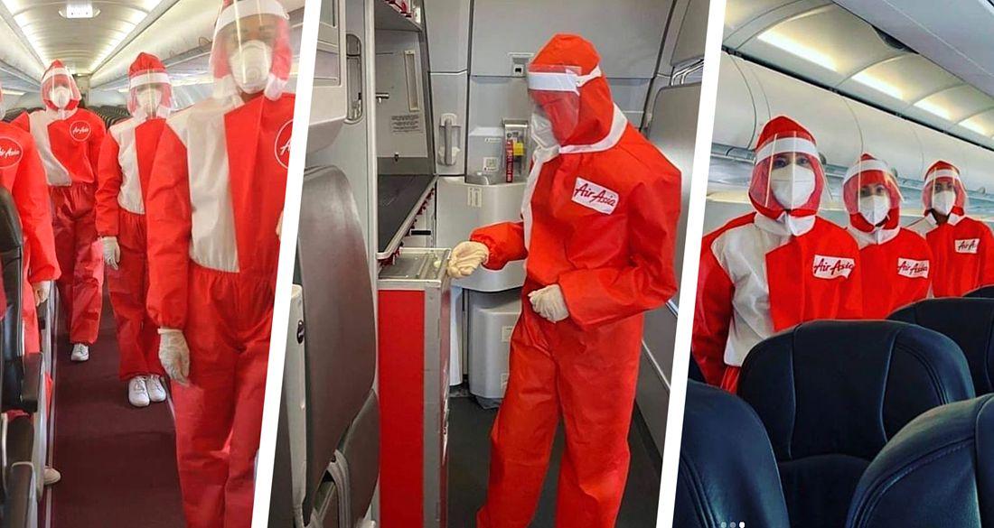 На стюардесс надели защиту как на медперсонал в коронавирусной Коммунарке. 7 ФОТО
