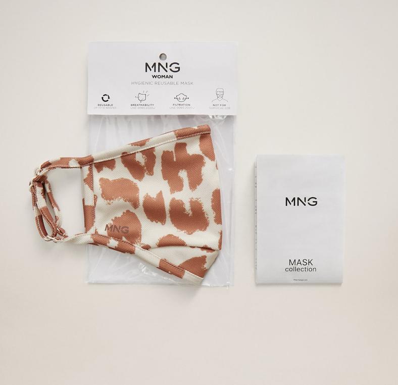 Mango продаёт маски для лица от Covid-19 с эффектными принтами