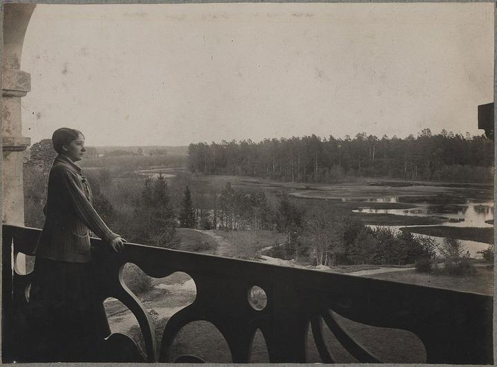 Вид из усадьбы на реку Бобр. Снимок сделан примерно в 1910 году. Фото: ru.wikipedia.org