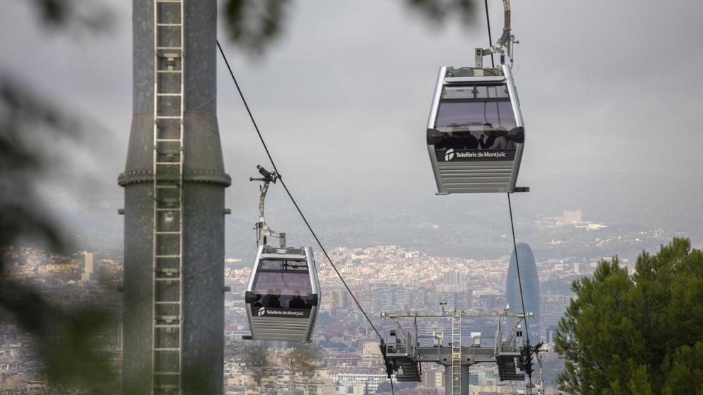 Канатная дорога Монжуик в Барселоне возобновила свою работу с бесплатных поездок