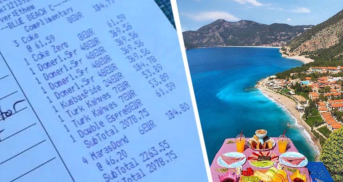 Отдых в Турции: за шашлык - ₽3'700, за купание в море - ₽5'600, за чашку кофе - ₽1'900