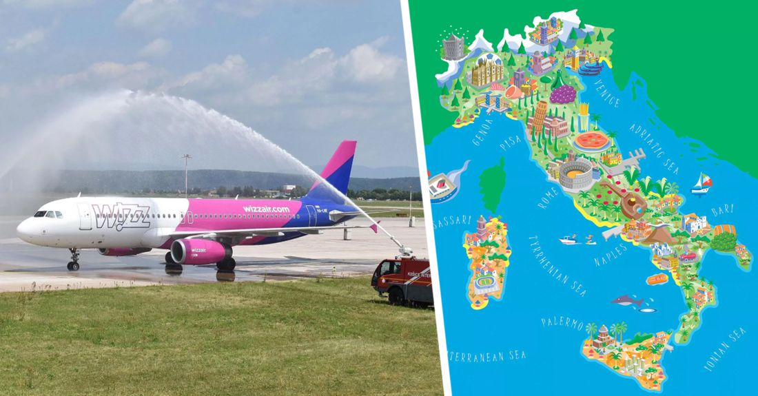 ₽2'000 за Сицилию, Венецию, Бергамо, Болонью и Турин: лоукостер WizzAir запускает из Санкт-Петербурга очень дешевые рейсы в Италию